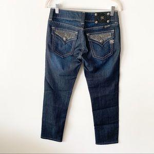 Miss Me Cropped Jeans | JP50015 Skinny Sz 27